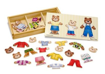Wooden Bear Family Dress-Up Puzzle  -