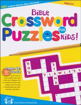 Bible Crossword Puzzles for Kids Puzzle Book   -