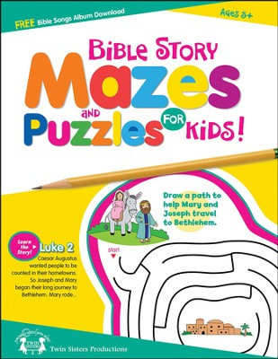 Bible Story Mazes and Puzzles for Kids!  -