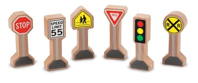 Whittle World, Wooden Traffic Signs Set  -