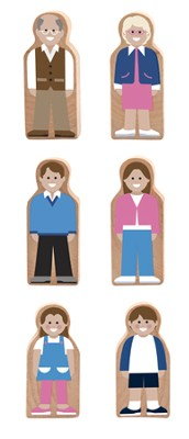 Whittle World. Wooden Neighbors Set  -
