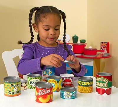 Grocery Cans, Play Food, 10 Pieces   -