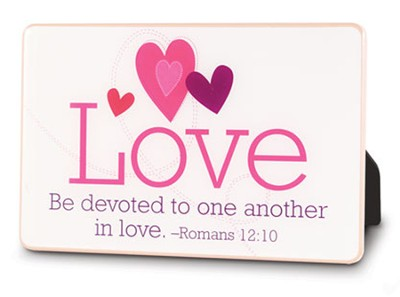 Be Devoted to One Another in Love--Ceramic Plaque   -