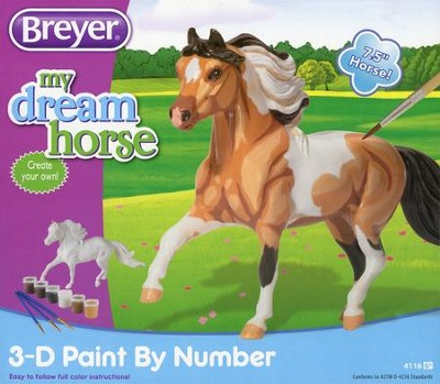 3D Paint by Number Activity Kit, Pinto  -