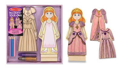 Magnetic Princess Fashions, Decorate Your Own  -