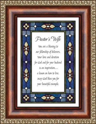 Pastor's Wife Framed Print  -