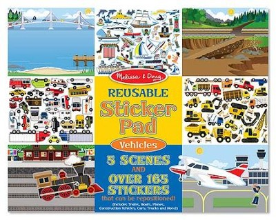 Reusable Sticker Pad, Vehicles  -
