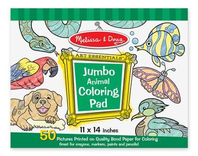 Animals Jumbo Coloring Pad  -