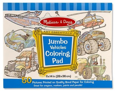 Vehicles, Jumbo Coloring Pad  -