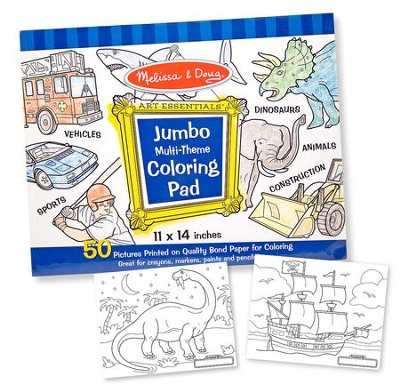 Jumbo Coloring Pad, Blue  -