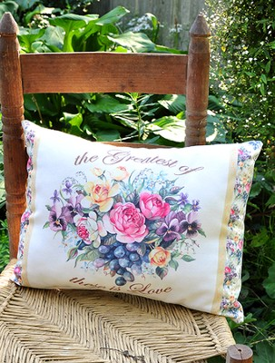 Among The Roses, Decorative Pillow  -     By: Sandy Clough
