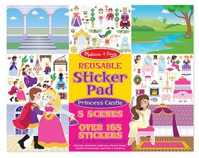 Reusable Sticker Pad, Princess Castle  -