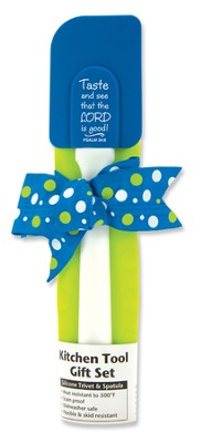 Taste and See Kitchen Tool Gift Set, Blue and Green  -