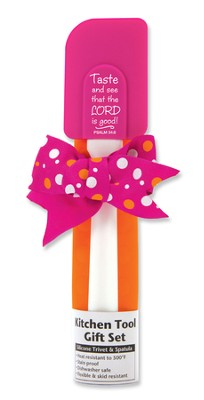 Taste and See Kitchen Tool Gift Set, Pink and Orange  -