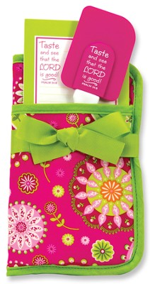 Taste and See Potholder Gift Set, Pink and Green  -