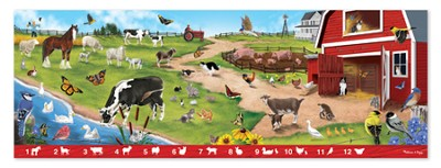 Search and Find, Sunny Hill Farm Floor Puzzle  -