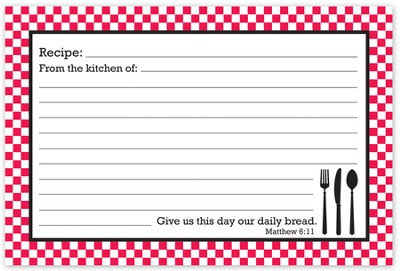 Give Us This Day Our Daily Bread Recipe Cards, Red and White  -