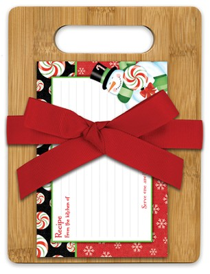Christmas Joy Bamboo Cutting Board Gift Set   -