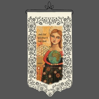 God Saw That It Was Good, Lace Wall Hanging  -     By: Teresa Kogut