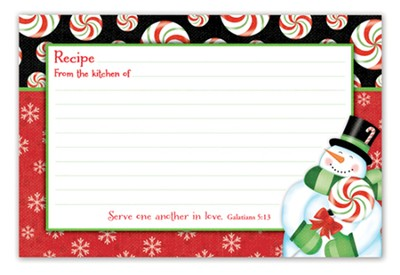 Christmas Joy Recipe Cards, pack of 36  -