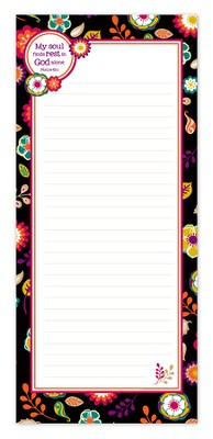 My Soul Finds Rest In God Alone Magnetic Notepad  -