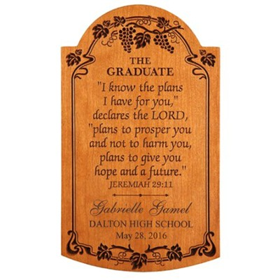 Personalized, Jeremiah 29:11 Graduation Plaque   -