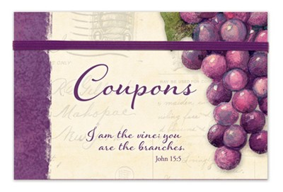 Vineyard Coupon Organizer, I Am the Vine, You Are the Branches  -     By: Susan Winget