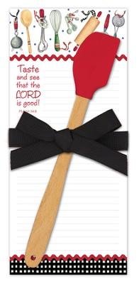 Taste and See That the Lord Is Good Kitchen Set, Notepad and Spatula  -