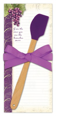 I Am the Vine Kitchen Set, Notepad and Spatula   -     By: Susan Winget