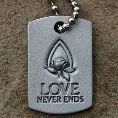 Love Never Ends Memorial Tear Pendant  -