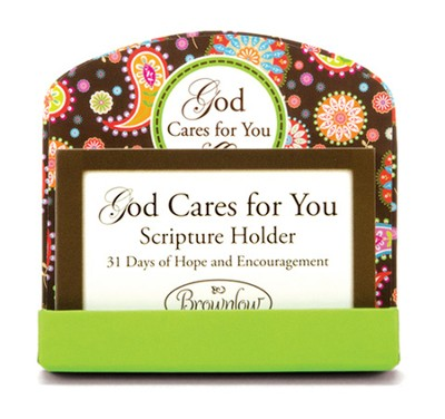 God Cares For You Scripture Card Holder  -