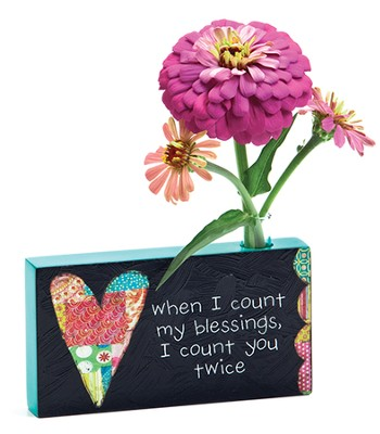 When I Count My Blessings, Bud Vase  -     By: Holly Christine Moody