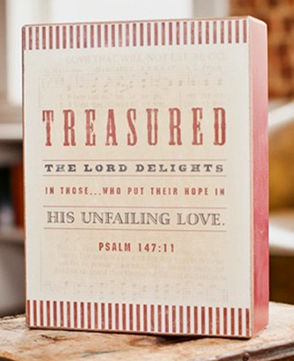 Treasured The Lord Delights in These Plaque  -