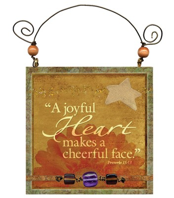 A Joyful Heart Makes a Cheerful Face Plaque  -