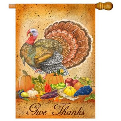 Give Thanks Art Flag, Large  -