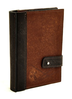 Leather Journal with Photo Sleeves, Brown  -
