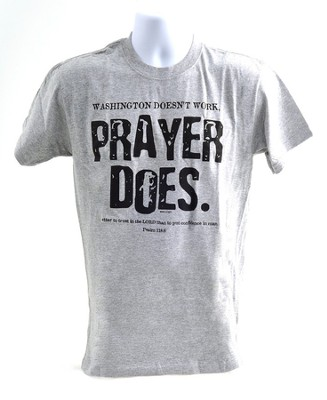 Prayer Does Shirt, Gray, Large   -