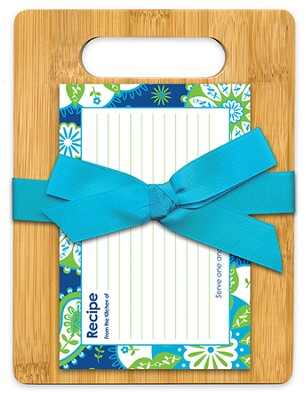 Serve One Another Bamboo Cutting Board Gift Set, Blue and Green  -