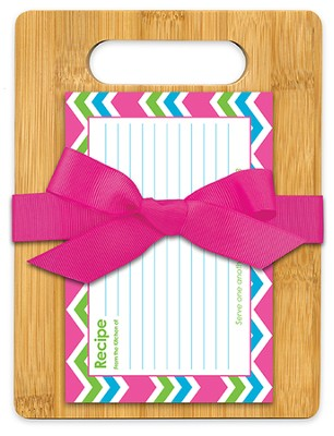Serve One Another Bamboo Cutting Board Gift Set, Pink, Green and Blue  -