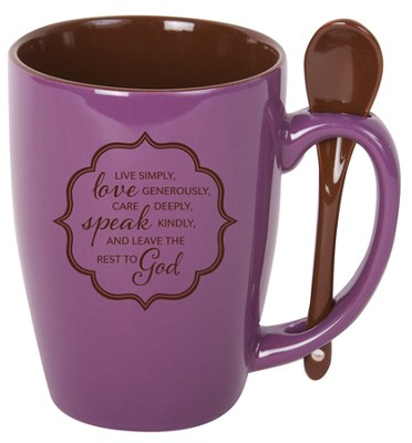 Live Simply Mug with Spoon  -