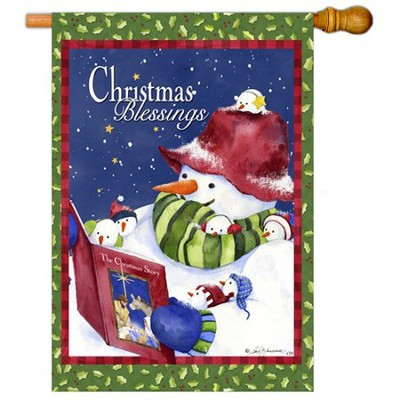 Christmas Blessings Art Flag, Large  -     By: Barb Tourtillote