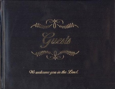 Any Occasion Guest Book, black bonded leather   -     By: Gift