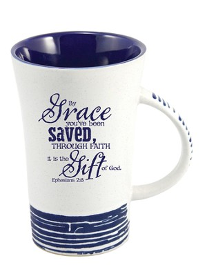 By Grace, You Have Been Saved Mug, Blue  -