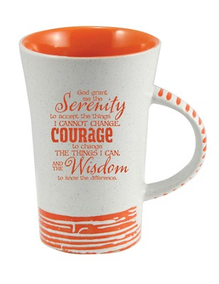 Serenity Prayer Mug, Orange  -
