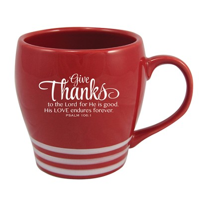 Give Thanks to the Lord, Red Mug   -