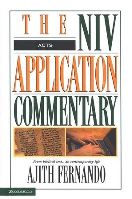 Acts: NIV Application Commentary [NIVAC]   -     By: Ajith Fernando
