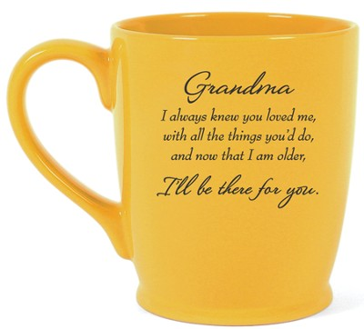 Grandma, I'll Be There For You Mug, Yellow  -