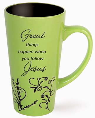 Great Things Happen Mug, Green  -