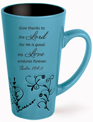 Give Thanks Mug, Blue  -