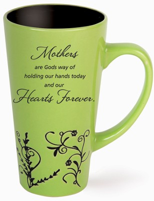 Mothers, Holding Hands Mug, Green  -
